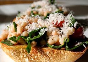 Tuscan White Bean Bruschetta