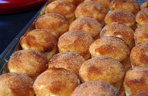 Sugar Cinnamon Black Walnut Muffin Donuts | AwesomeBites